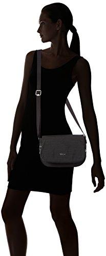 Kipling Damen Earthbeat S Umhängetasche, 26x17x7 cm Dazz Black