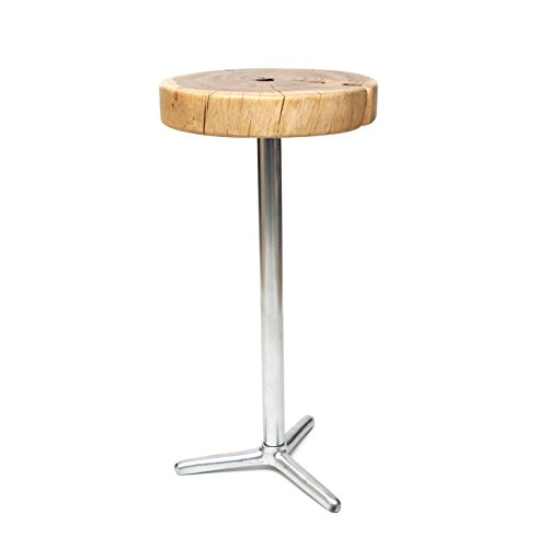 Upper- STOOL CHAIR SEAT SIDE TABLE CHAIR WOOD METAL STEEL WOOD SOLID NIGHT TABLE CHAIR55 cm