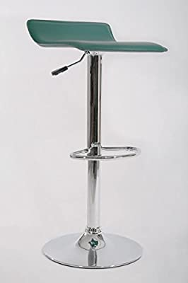 Barstools dark green Faux leather Swivel height adjustable