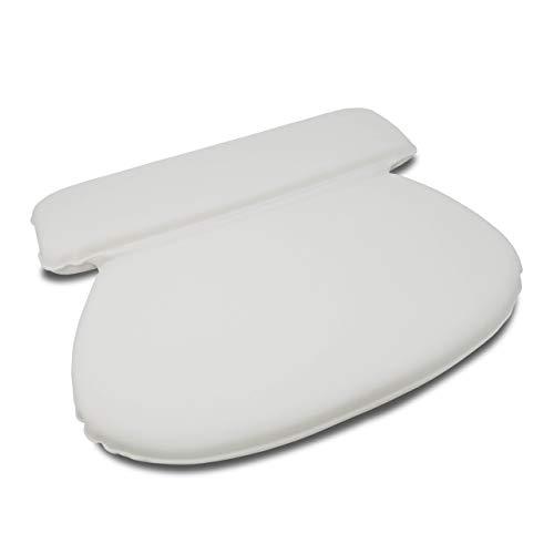 Luxamel | Badewannenkissen mit 7 extra starken Saugknöpfen | Nackenstüze für die Badewanne | Aus Spezialschaum | 35x30x4 cm