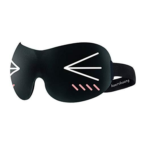 Kuershuang 3D-Schlafmaske, leichte und komfortable Augenmaske für Nickerchen, beste Schlafmasken für Männer, Frauen und Kinder