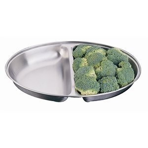 "310KtAlDRqL. SS300  - Olympia P186 Oval 12"" Vegetable Dish Stainless Steel Serving Plate Tableware"