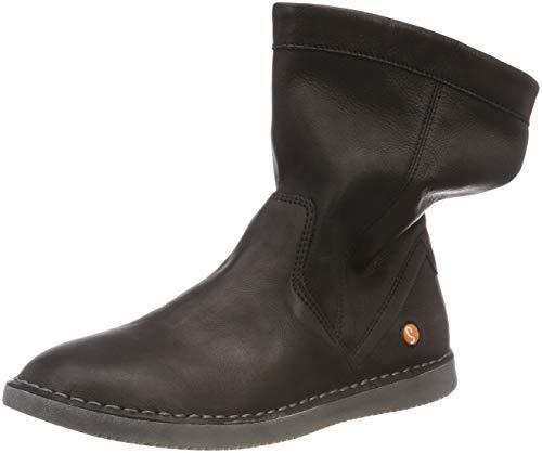 Softinos TIL402SOF Damen Slouch Boots, Schwarz (Black 008), 37 EU (4 UK) (Slouch-stiefeletten)