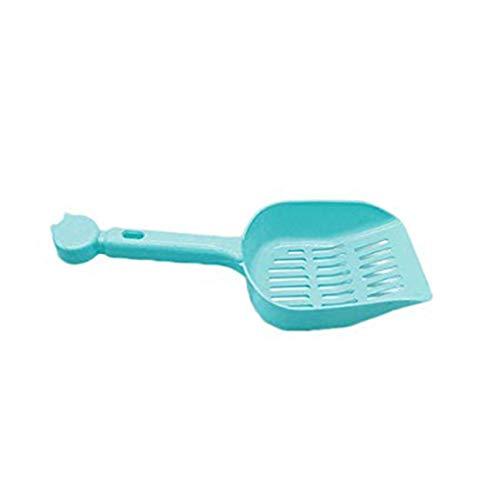 Fangfeen 25,5 * 10,2 * 4cm Stiel Cat Sand Schaufel aushöhlen Streuschaufel aus Kunststoff Scooper Haustier-Reinigungs-Tool (Farbe Random)