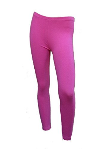 Damen Leggings Damen Leggins knöchel Stretch Footless Übung Leggings Hot Pink Größen 8–14, Pink