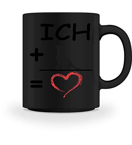 Shirtee Ich + Hund = Liebe – Tasse