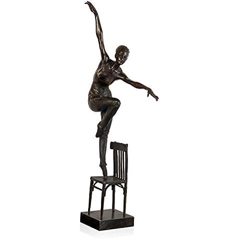 Arte dal Mondo EPA223 Ballerina su Sedia Scultura, Stile Art