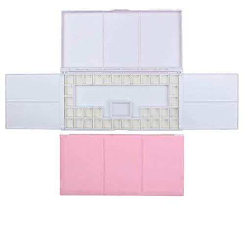 ATWORTH: estuche de acuarela de viaje con paleta de pintura plegable, plato de agua de porcelana y 36 sartenes extraíbles 23.5 x 12.0 x 1.6 cm rosa