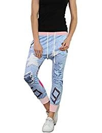 71f87c94c6f38c si moda Damen Baggy Jogging Hose Haremhose Chino Sweathose Yoga Italy  Ripped Jeans Look Sweatpants