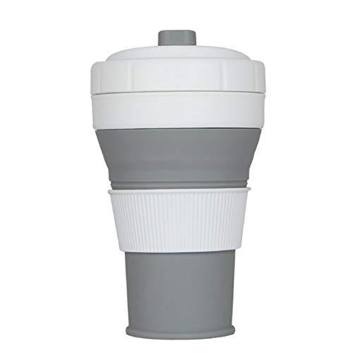 fghfhfgjdfj Multifunktionale Faltbare Silikon Tasse Kaffeetasse 450ML Kapazität Teleskop Trinkbecher zusammenklappbare Teetassen Camping Cups -
