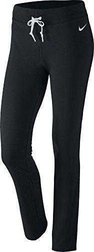 Nike Damen Sporthose Lang Jersey Pants OH, schwarz/weiß, XL/S, 614920 (Nike Trainingshose Damen Xl)