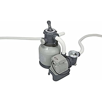 Intex Sandfilteranlage Krystal Clear 6,0 m³, TÜV/GS, Grau, 6.000 l/h / 370 W / 230/12 V
