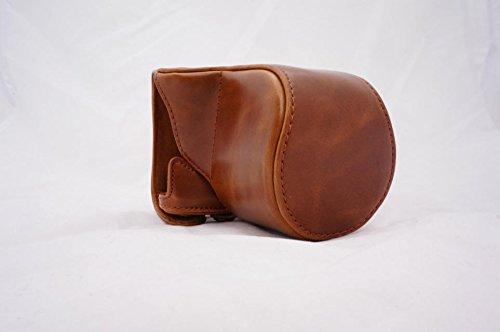 Protezione PU Pelle della fotocamera borsa del caso con el treppiede Design Compatibile per Pentax Q-S1con spalla cinghia per il collo della