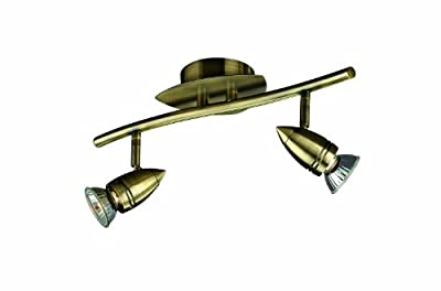 Massive Comet 2 Spotlight Ceiling Bar Antique Bronze (Includes 2 x 50 Watts GU10 Bulb)