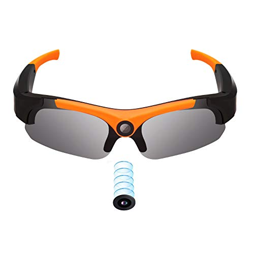 OOLIFENG 1080P Brillenkameras, 8MP Kamera Tragbar Videokamera Zum Outdoor-Sportarten