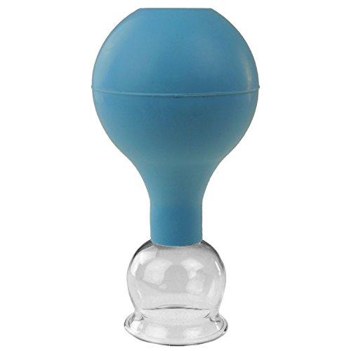 Pulox Schröpfglas aus Echtglas diverse Größen und Farben (32mm, blau)