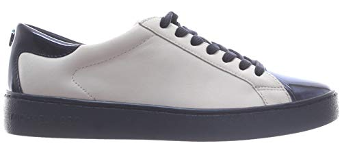 Damen Schuhe Sneakers MICHAEL KORS Frankie Leather Optic Admiral Nappa Weiss Neu
