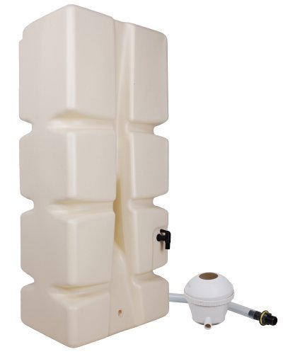 Ondis24 Slim Wassertank Regentank mit Füllstandsanzeige und 2 Entnahmestellen Regenwasser Wandtank Eco 310 Liter + Füllautomat