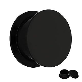 Treuheld Classic Plug - Gewinde - Schwarz 5 mm