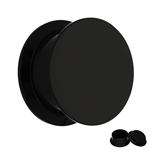Treuheld Classic Plug - Gewinde - Schwarz 8 mm