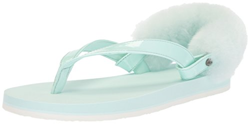 UGG Girls K Laalaa Flip-Flop, Aqua, 6 M US Big Kid