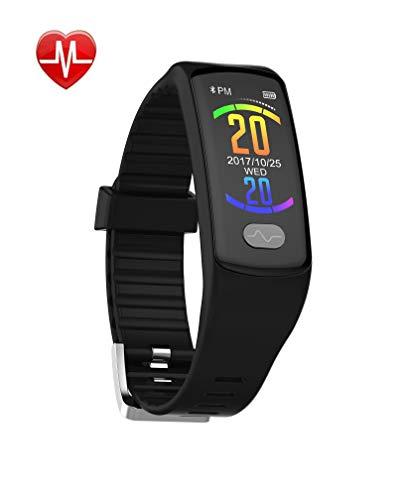 Fitness-Tracker-EKG + PPG-EKG-Herzfrequenz-Blutdruck-Schlafüberwachung Anruferinformation Wecker Kalorien-Sport-Schrittzähler,A