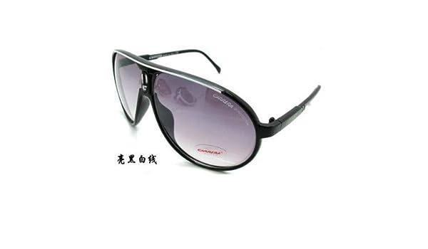 New Men Women Retro Sunglasses Unisex Matte Black Frame Carrera Glasses+Box
