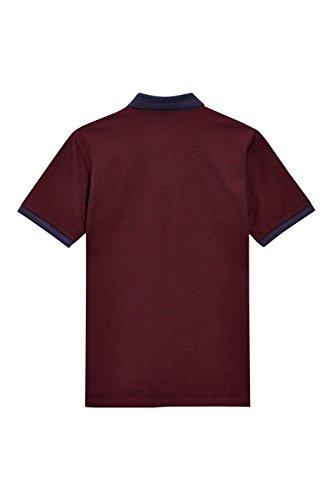 next Herren Kurzarm-Poloshirt Regular Burgund
