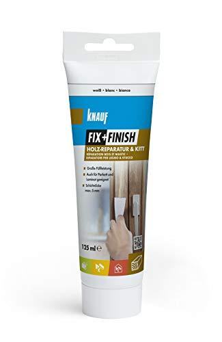Knauf 594048 Fix+Finish Holzreparatur weiß 125 ml (Holz-finish Reparieren)