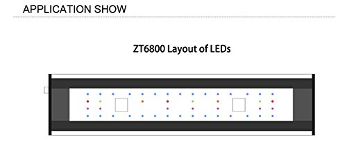 Aquarium LED Beleuchtung Zetlight AQUA Serie, moderne Aquariumbeleuchtung für Garnelen oder Nanobecken (ZA-1200 Süßwasser) - 9