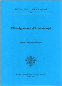 Enseignement D'Amenemope (Studia Pohl (Series Major)) por Vpm Laisney