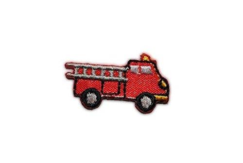 alles-meine.de GmbH Feuerwehr 2,9 cm * 1,7 cm Auto CAR Aufnäher Applikation Bügelbild Patch - Feuerwehr-applikationen