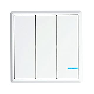 NineLeaf Wireless Lights Switch for Wireless Control of Three or More Lights/Devices,No Wiring No WiFi Required,Remote Multiunit House Lighting Lamps,Easy to Install On/Off 1x 3-Way Contains Switch