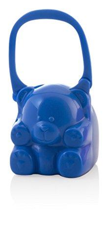 Miniland Pacikeeper - Osito portachupetes con asa para el transporte, color azul