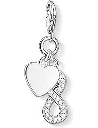 Thomas Sabo Damen-Charm-Anhänger Unendlichkeit Herz Charm Club 925 Sterling Silber weiß 1248-051-14