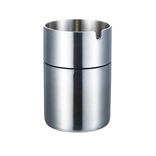 Aschenbecher ZLR 304 Edelstahl Verdickung 4mm Zeichnung Winddicht Rauch Dickes Material Mode Rauch Tasse (größe : 9cm)