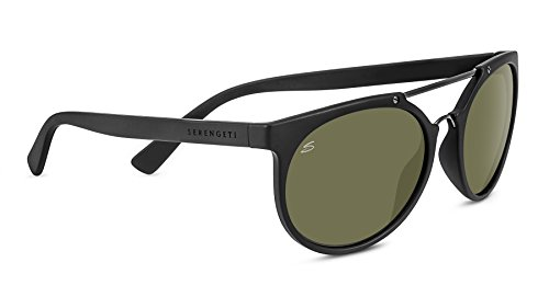 Serengeti lerici, occhiali da sole unisex, satin black, m