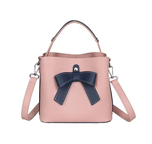GSHGA Mode Schulter Diagonal Handtasche Eimer Tasche Einfache Kontrast Farbe Weiblichen Bogen TotesTop-Griff Taschen