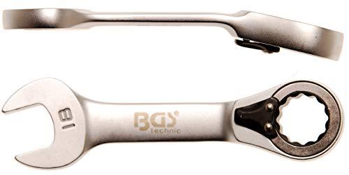 Bgs Clé mixte à cliquet, courte, 18 mm, 1 pièce, 30718
