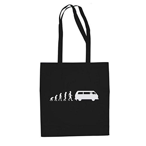 Bulli T3 Evolution - Stofftasche / Beutel, Farbe: schwarz