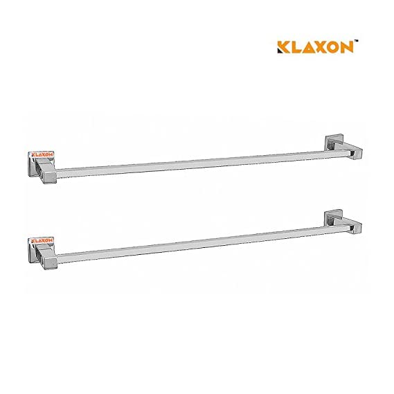 Klaxon Kristal 102 Stainless Steel Towel Holder (Pack of 2)