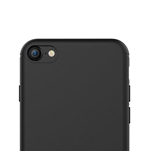 iPhone 8 Hülle, iPhone 7 Hülle - iHarbort iPhone 7/ 8 Hülle Tasche Case Cover ultra dünne TPU Silikon-Gel-Abdeckung Schutzhülle für Apple iPhone 7/ 8, Transparent Schwarz