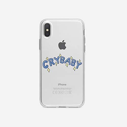 licaso iPhone X IPX Handyhülle TPU mit Crybaby Blue Print Motiv - Transparent Cover Schutz Hülle Aufdruck Lustig Funny Druck