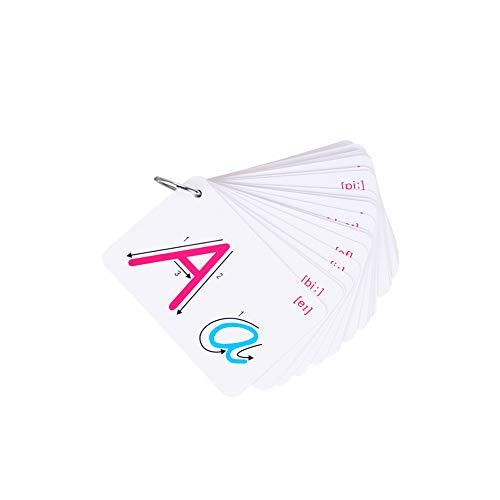 Romote ABC Flash Cards Buchstabeanerkennung Karten ABC Learning Toy Alphabet-Karten Für Babys, Kleinkinder, Pre-K Und Kindergartenkinder 1set