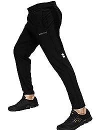 BARKEYO Men's Slim Fit Trackpants Black