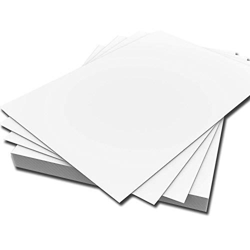ARK - Cartulinas (A4, 300 g/m², 50 unidades), color blanco