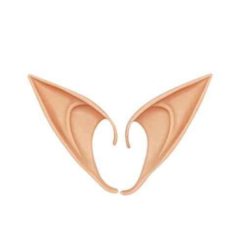 Yiwa Stirnbänder 1 Paar Elf Ohren einzigartige Geist Fee Ohren für Halloween Cospaly Partei Kostüm Ball 12cmSkin Farbe