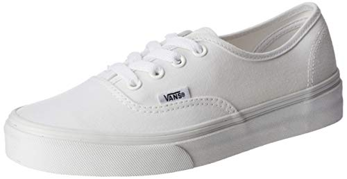 Vans Authentic Classic, Unisex Adult Low Top Lace-up Trainers, True White, 3 Uk (35 Eu)