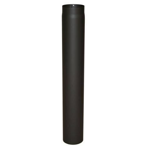 Ofenrohr Senotherm® 2 mm Ø 120 mm hitzebeständig lackiert, gerade - Rauchrohr, Kaminrohr schwarz - für Pellettofen und Kamine - Länge: 1000 mm