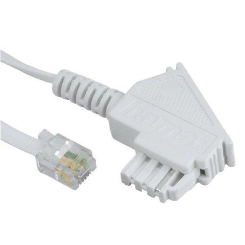 Hama Telefonkabel, TAE-F-Stecker - Modular-Stecker 6p4c, 10 m, Weiß